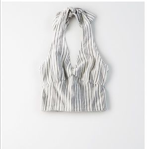 American Eagle Stripped Halter